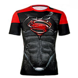 Marvel & DC Superheroes Compression Shirt-men fashion & fitness-wanahavit-Bat Superman-M-wanahavit