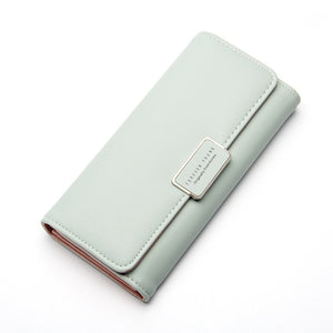 Pure Passport Cover Large Fresh Capacity Wallet-women-wanahavit-light green-wanahavit