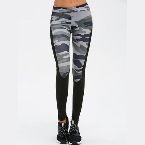 Camouflage Sporting Leggings-women fitness-wanahavit-Gray-S-wanahavit