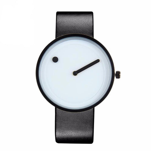 Minimalist Dot and Line Stylish Quartz Watch-unisex-black white-wanahavit