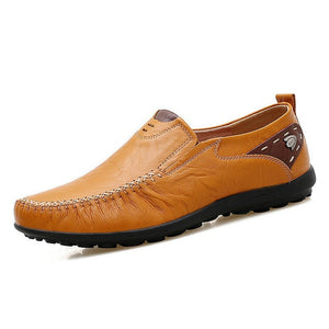 Soft Leather Casual Handmade Comfortable Loafers-men-wanahavit-Yellos Loafer-11-wanahavit