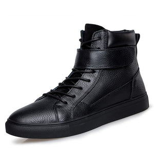 Winter Warm Fur High Quality Genuine Leather Biker Boots-men-wanahavit-Black Boots-5-wanahavit