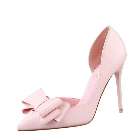 Sweet Ribbon High Heels Shoes-women-wanahavit-Pink-3.5-wanahavit
