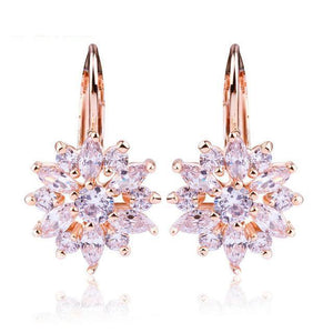 3 Colors Luxury Gold Color Flower Stud Earring-women-wanahavit-Pink-wanahavit