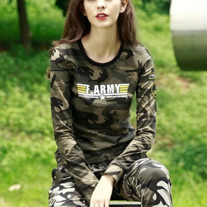 Army Camouflage Printed Long Sleeve Sweatshirt-women-wanahavit-gray camouflage-S-wanahavit