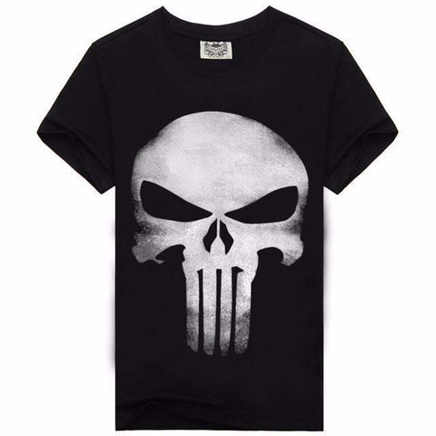 Punisher Short Sleeve Shirt-men-wanahavit-Black White-L-wanahavit