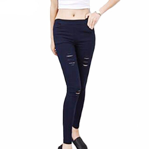 Skinny Ripped Sexy Summer Pencil Jeans-women-wanahavit-M-wanahavit