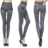 Stretchable Bleached Pencil High Waist Jeans