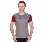 Summer Fashion Slim Fit Patchwork Short Sleeve Tees