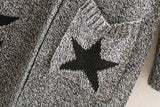 Thick Winter Knitted Star Cardigan Coat-women-wanahavit-Light Gray Big Star-One Size-wanahavit