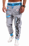 Words Printed Streetwear Jogger Pants-men-wanahavit-Gray and hulan pants-M-wanahavit