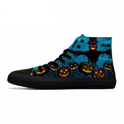 Series 3 Nice Halloween Themed High Top Shoes / 5 Variants-unisex-wanahavit-Style1-5-wanahavit