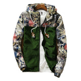Hip Hop Floral Bomber Jacket-men-Army Green-M-wanahavit