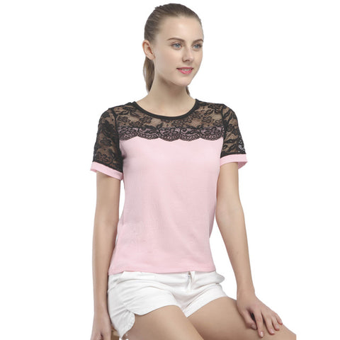 Elegant Lace Chiffon Shirt-women-wanahavit-Pink-4XL-wanahavit