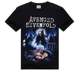 Avenged Sevenfold Cartoon Heavy Metal Printed Tees-men-wanahavit-Avenged Sevenfold-M-wanahavit