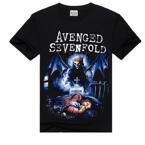 Avenged Sevenfold Cartoon Heavy Metal Printed Tees