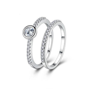 Circular Zirconia Jewelry Crystal Rings Set-women-wanahavit-6-wanahavit