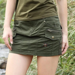 Sexy Summer Military Mini Skirt-women-wanahavit-army green-S-wanahavit