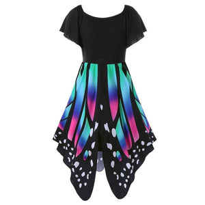 Butterfly Shape Novelty Party Dress-women-wanahavit-Blue-XXXL-wanahavit