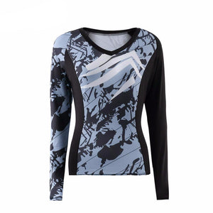 Camouflage Fitness Yoga Long Sleeve Shirt-women fitness-wanahavit-L-wanahavit