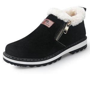 Winter Snow Designer Warm Plush Casual Ankle Boots-men-wanahavit-Black Thick Fur-6.5-wanahavit
