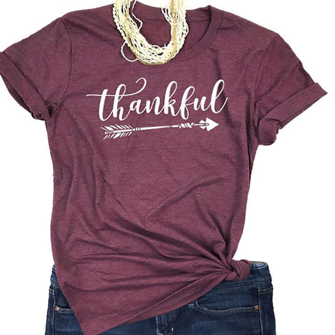Thankful Letter Printed Tee