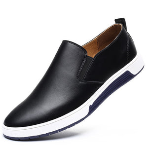 Italian Designer Autumn Leather Slip On Loafers Shoes-men-wanahavit-Black Casual Shoes-5.5-wanahavit