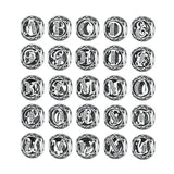 925 Sterling Silver Vintage Alphabet Letter Beads Fit Charms Bracelet