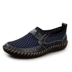 Breathable Genuine Leather Meshed Slip On Loafer Shoes-unisex-wanahavit-blue-6.5-wanahavit