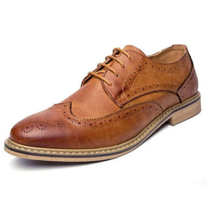 Luxury Leather Brogue Flats Casual British Style Shoes-men-wanahavit-Brown Shoes-6-wanahavit