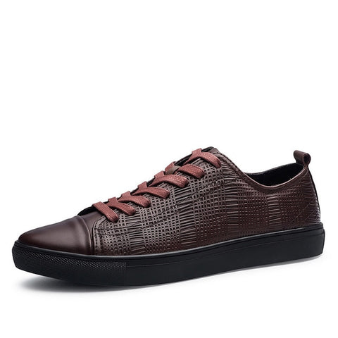 Genuine Leather Interweave Oxford Shoes-men-wanahavit-brown sneakers-6-wanahavit