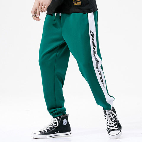 Gold Miner Print Elastic Jogger Sweatpants-men fitness-wanahavit-Green-S-wanahavit