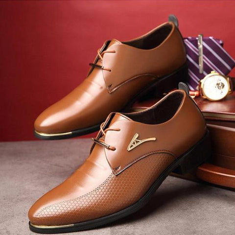 Luxury Fashion Pointed Toe Lace Up Business Shoes-men-wanahavit-Brown Dress Shoes-5.5-wanahavit