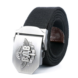 BAB Army Tactical Belt Patriotic Soldiers Canvas Jeans Belt-men-wanahavit-Black-110CM-wanahavit