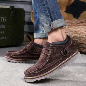 Genuine Leather Casual Vintage Velvet Thick Sole Shoes-men-wanahavit-Brown Without Fur-6.5-wanahavit