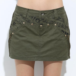Military Cotton Sexy Short Skirt-women-wanahavit-Army Green-25-wanahavit