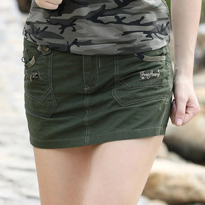 Military Style Green Pockets Short Skirt-women-wanahavit-ARMY GREEN-26-wanahavit