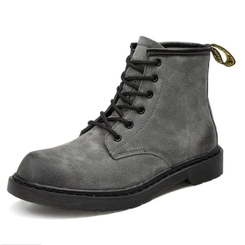 Genuine Leather Waterproof Warm Plush Ankle Boots-men-wanahavit-gray-11-wanahavit