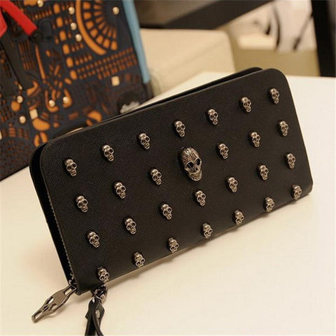 Skull Hard Rock Leather Wallet