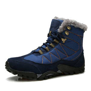 Winter Waterproof Warm Fur Plush Snow Ankle Boots-men-wanahavit-Blue Snow Boots-6-wanahavit