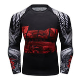 MMA Printed Workout Quick Dry Fitness Long Sleeves