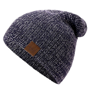 Acrylic Crochet Ski Casual Warm Knitted Winter Beanie-unisex-wanahavit-Navy Blue-54cm-62cm-wanahavit