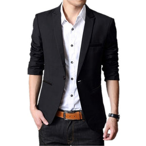 Solid Color Wedding Party Formal Blazers-men-wanahavit-Black-M-wanahavit