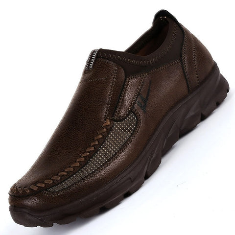 Faux Suede Breathable Slip On Thick Sole Loafer Shoes-men-wanahavit-Brown-6-wanahavit
