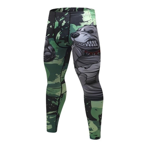 MMA Printed Workout Quick Dry Fitness Pants-men fitness-wanahavit-6-M-wanahavit