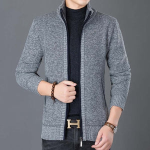 Stand Collar Trend Street Style Overcoat Cardigan Jacket-men-wanahavit-Light Gray-M-wanahavit