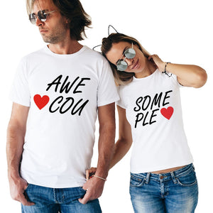 Awesome Couple Matching Couple Tees-unisex-wanahavit-FE03-FSTWH-S-wanahavit