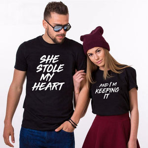 She Stole My Heart And I'm Keeping It Matching Couple Tees-unisex-wanahavit-35C3-FSTBK-S-wanahavit