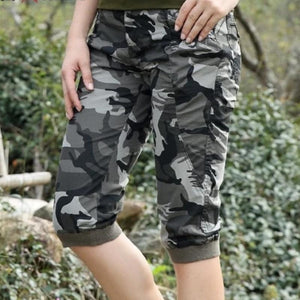 Military Camouflage Slim Fit Knee Length Designer Pants-unisex-wanahavit-Multi-26-wanahavit