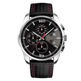 Luxury Leather Strap Waterproof Wristhwatch-men-wanahavit-Red-wanahavit